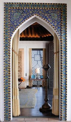 Arched Moroccan doorway.
