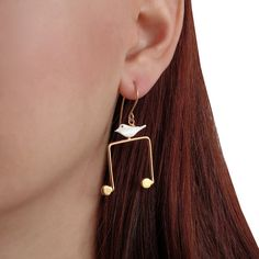 Music note & treble clef earrings mismatched by emmanuelaGR