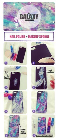 diy.fashion.nails.life.: diy: aurora galaxy phone case