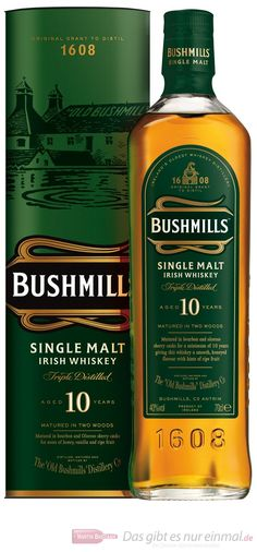 Bushmills 10 yrs In my opinion it is better than the 16 year