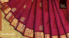 This gorgeous and auspicious colour takes on a magnificent form when woven into six yards of Kanjivaram silk, making the sari look as precious as a beautiful gem. The subtle handwoven artistry of the udal or body of the sari is embellished with warm golden lines and border. The design weaves in much-loved motifs like the paisley, vanki and floral patterns making this sari a true representative of the glorious Kanjivaram tradition.