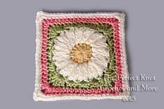 Ravelry: Summer View 6 inch Square pattern by The Perfect Knot - Michelle Kovach