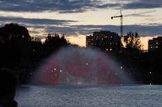 Bandera de Canada... en el agua