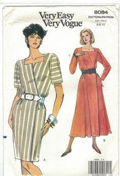 Vogue Patterns, Sewing Patterns, Straight Skirt, Petite Dresses, Flare Skirt, Wrap Dress, Shirt Dress, Couture, Long Sleeve