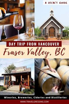 British Columbia's Fraser Valley region is an agricultural wonderland waiting to be explored.  There you will find local boutique wineries, breweries, cideries, and distilleries that will cater to a wide range of palettes.  Check out this post for recommended places where you can enjoy a taste of the region.  *#Vancouver   Vancouver   Vancouver Travel   Vancouver Things To Do   Vancouver Vacation   Vancouver Weekend   What to do in Vancouver   Day Trips from Vancouver   Canadian Bucket List Vancouver Vacation, Vancouver Travel, Distillery, Brewery, Vancouver Canadians, Vancouver Things To Do, West Coast Canada, Alberta Travel, British Columbia