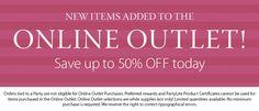 Online Outlet category banner