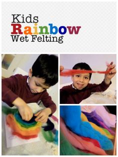 Wet Felting with Kids - In The Playroom