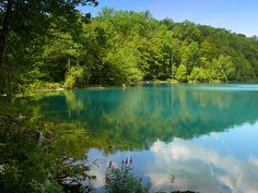 Green Lake near Syracuse, NY...yes, the water really is that color!  (photo by Butch Osborne, via Flickr)