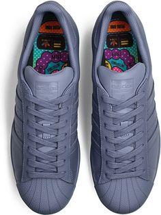 3c665944e983 Adidas Superstar Originals x Pharrell Williams Supercolor Pack Turnschuhe  Grau…