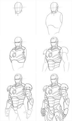 How2draw Ironman