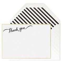 Sugar Paper Calligraphy Thank You Card Set