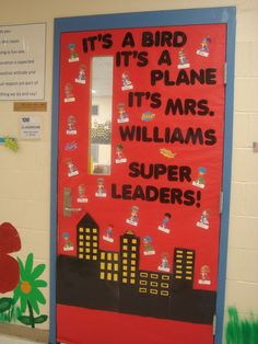 superhero LIM theme door