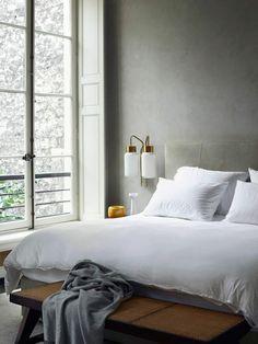 schlafzimmereinrichtung glaswand steinwand spektakuläre aussicht ... - Schlafzimmer Mit Ausblick Ideen Bilder