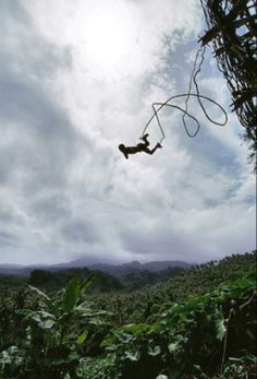 Naghol - ancient bungee jumping from Vanuatu.