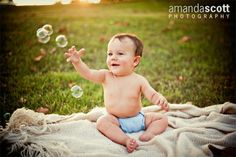 6 month old - would love to have M blowing the bubbles for little sis