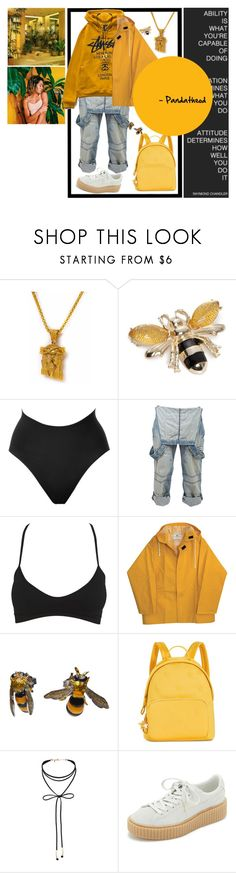 """Simple as Yellow"" by pandatheod ❤ liked on Polyvore featuring Napier, SPANX, Crafted, Wet Seal, Stussy, Delfina Delettrez, Tommy Hilfiger, Miss Selfridge and Puma"