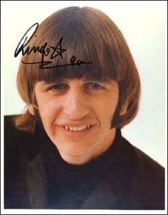 Ringo Starr of The Beatles Autographed Photo - Walls of Fame