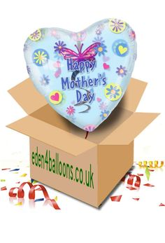 Mothers Day Balloon in a Box Mothers Day Balloons, Gifts Delivered, Flowers Delivered, Happy Mothers Day, Bouquet, Box, Birthday, Floral, Handmade