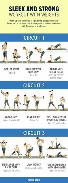 Looking for an effective circuit workout? This workout with weights is perfect to tone your arms. More Circuit Workout Total body, low-weight circuit workout instruction