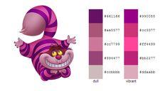 #color #palette #scheme Alice in Wonderland (Disney) - Cheshire Cat