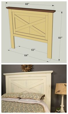 15 DIY headboard ideas for your weekend project - ARCHLUX.NETHere's how to make a simple DIY headboard from old cheap and chic DIY headboard ideasDo I like the idea, the redesigned shutters or the Furniture Projects, Furniture Plans, Home Projects, Bedroom Furniture, Home Furniture, Furniture Making, Outdoor Furniture, Unfinished Furniture, Furniture Dolly