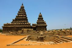 Shore Temple, Chennai. Built in 700-728AD!! It has the name Shore Temple because it overlooks the shore of Bay of Bengal.