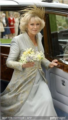 "Camilla was known as ""Camilla Parker-Bowles"" before the wedding, however it was announced upon marriage that she would take the name of ""Her Royal Highness The Duchess of Cornwall"". Royal Wedding Gowns, Wedding Coat, Royal Weddings, Wedding Dresses, Grace Kelly, Charles X, British Monarchy History, Camilla Duchess Of Cornwall, Camilla Parker Bowles"