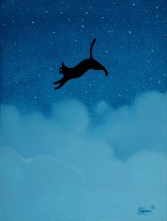 """The black cat in clouds"" http://ift.tt/1HY16FH"
