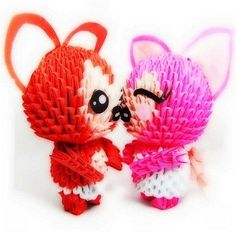 3D Origami - Fox Couple