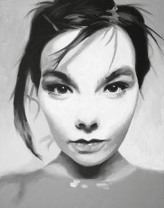 Björk Fine Art Print (Art Pop - Trip Hop - Experimental - Avant Garde - Venus as a Boy - Hyperballad - Homogenic - Iceland - Icons)