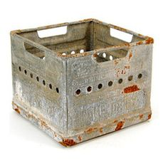 traditional storage and organization by Etsy Industrial Metal, Vintage Industrial, Industrial Machine, Industrial Furniture, Aviation Furniture, Rustic Basement, Milk Crates, House On The Rock, Fresh Milk