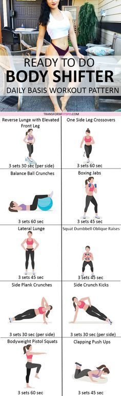 Repin and share if this workout transformed your body! Read the post for all the workout descriptions!