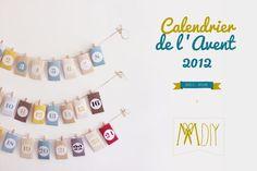 Helppo ja kaunis joulukalenteri. Mukana printattavat mallit pusseihin!