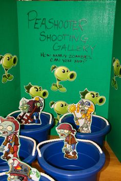 Games at our Plants vs Zombies party www.PartyArtByRobin.com