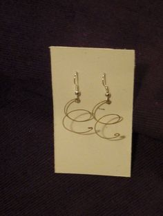Recycled Guitar String Earrings by megmonroe on Etsy, $10.00