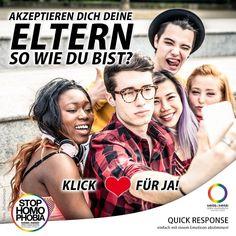 #FrageDerWoche  Viele Teenager haben nach ihrem  Coming-out oft monatelang oder gar keinen Kontakt mehr zu ihren Eltern. Wir wollen von euch wissen: Akzeptieren euch eure Eltern so wie ihr seid?  Eure Meinung ist gefragt! #EnoughisEnough #StopHomophobia #LGBTI #Community #Gesellschaft #Familie #ComingOut #LoveisLove #WirAlleGemeinsam #gay #LGBT #Kinder #LiebeistLiebe #Teenager #Akzeptanz #LoveMakesAFamily #family #QuestionOfTheWeek