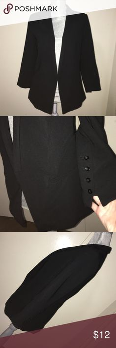 A.N.A Blazer - M Perfect for Work! Structured, Faux Pockets, Button Decoration at ends of each Sleeve. Lapel Style, NO Button Closure, Meant to Remain Open. Bought @ JCP 🎉 a.n.a Jackets & Coats Blazers