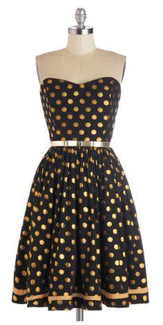 gold metallic dots  I NEED THIS!