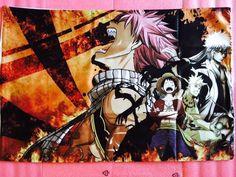 One Piece Fairy Tail Bleach Anime Gintama Luffy Naruto Natsu Gintoki Crossover 20''x30'' Pillow Case