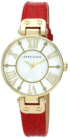 Anne Klein Croc Embossed Leather Strap Watch, 34mm (Save Now through 12/9)