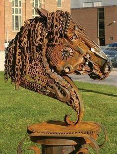 metal horse sculpture - Buscar con Google