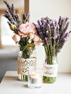 Lavender Centrepieces