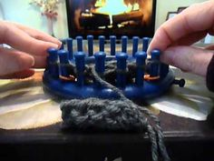 Loom Knit - How to do a Braided Cable on a loom.  Done as flat panel.  From SweetheartCozy.