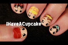 Disny princess nails