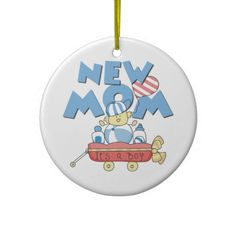 New Mom Its a Boy Gifts Christmas Ornaments