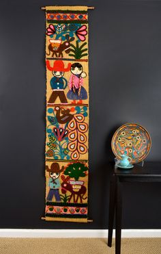 Vintage Mexican Yarn Art & Vintage Pottery Pieces, $305 | Finder Not Keeper