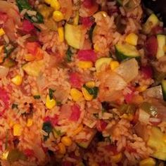 Better Spanish Rice Allrecipes.com,  Note to self: Don't substitute with Rotel!  Needs some extra cilantro.