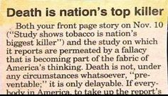 time for more funny newspaper clips... apparently guns dont kill people... death kills people