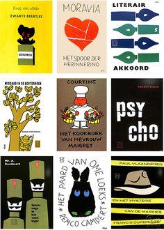 「ミッフィー」で知られるデザイナー、ディック・ブルーナが若き日に手がけた装丁作品を、444ページの豪華本にまとめました。新装版。 Book Cover Design, Book Design, Design Art, Pattern Illustration, Graphic Design Illustration, Japan Design, Dutch Artists, Illustrations And Posters, Anime Manga