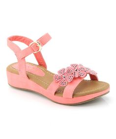 Another great find on #zulily! Coral Floral Danni Sandal by Anna Shoes #zulilyfinds